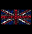 united kingdom flag pattern of ammo bullet items vector image