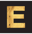 Uppercase letter E of the English alphabet vector image