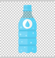 water bottle icon in flat style bottle on vector image