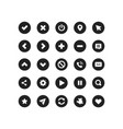 web application navigation interface icon set vector image vector image