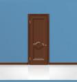 wooden entrance door vector image vector image