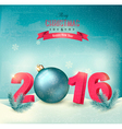 Happy new year 2016 New year design template vector image