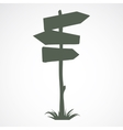 Wooden road sign vector image