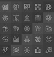 do-it-yourself biology icons vector image
