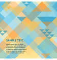 Abstract geometric orange and blue background vector image vector image