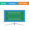 American football tv icon vector image vector image