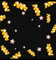 background with stars and cute confetti vector image vector image