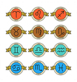 Badges and labels with zodiac signs for horoscopes vector image vector image