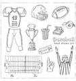 Baseball set background Sketches of various vector image