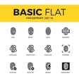 basic set fingerprint icons vector image vector image