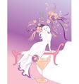 beautiful girl silhoette vector image