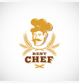 best chef abstract sign symbol or logo vector image vector image