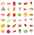 beverage icons set cartoon style vector image vector image