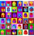big set gift boxes and bags 36 icons vector image vector image