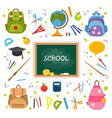 big set of school things for classroom vector image
