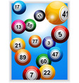 Bingo balls over portrait panel vector image vector image