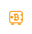 bitcoin secure deposit strongbox icon vector image vector image