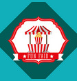 booth popcorn carnival fun fair retro label vector image