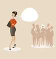 business woman dressed in 50s or 60s clothes vector image