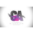ca c a zebra texture letter logo design with vector image