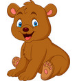 cartoon happy baby bear vector image vector image