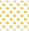 Cheese pattern seamless vector image vector image