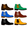 classic chelsea shoe style boot isolated on white vector image vector image