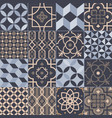 collection of square ceramic tiles with various vector image vector image