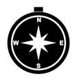 compass glyph black icon vector image vector image