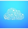 Computer cloud icon vector image vector image
