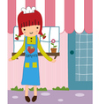 cute girl store vector image vector image