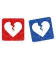 divorce heart grunge textured icon vector image