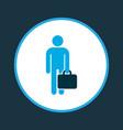 employee icon colored symbol premium quality vector image vector image