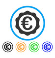 euro award seal rounded icon vector image vector image