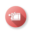 film edit red flat design long shadow glyph icon vector image