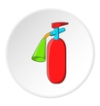 Fire extinguisher icon cartoon style vector image vector image
