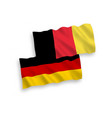 flags of belgium and germany on a white background vector image vector image