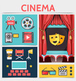 flat cinematography icons composition vector image vector image