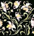 floral tile pattern flower background garden vector image vector image