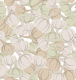 Garlic pattern Seamless background with beige vector image vector image