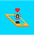 girl in social media network phone love concept vector image