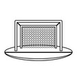 goal net soccer or football related icon image vector image vector image