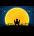 halloween graveyard church cross thunderbolt vector image vector image