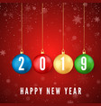 happy new year 2019 greeting card with colorful vector image vector image