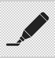highlighter marker pen icon in flat style vector image vector image