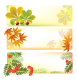 Horizontal autumn banners vector image vector image