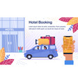 hotel room booking online service poster vector image vector image