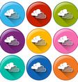 Icons with clouds vector image vector image