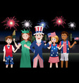 kids celebrating fourth of july vector image vector image