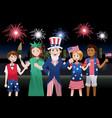 kids celebrating fourth of july vector image